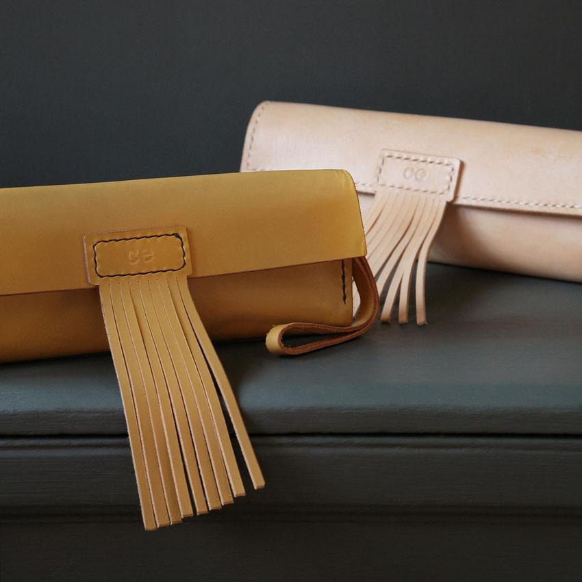 luxurious leather astrid clutch bag formal evening wear handbag pocketbook purse fine quality