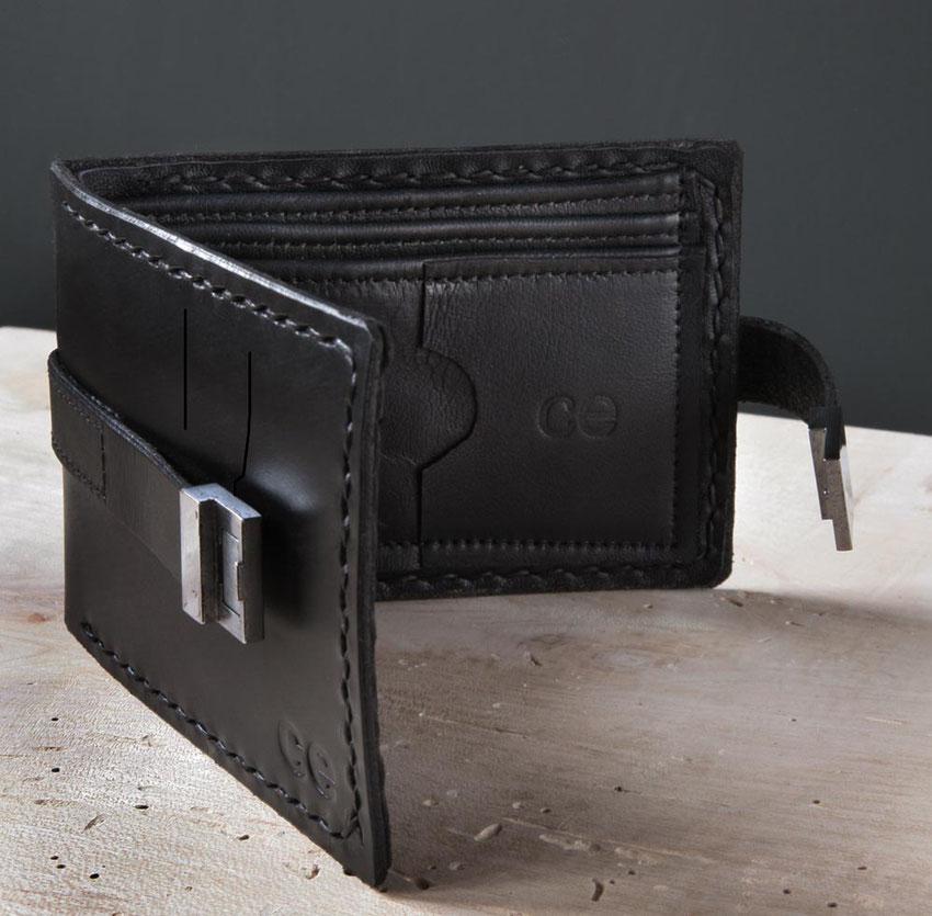 mens leather billfold wallet