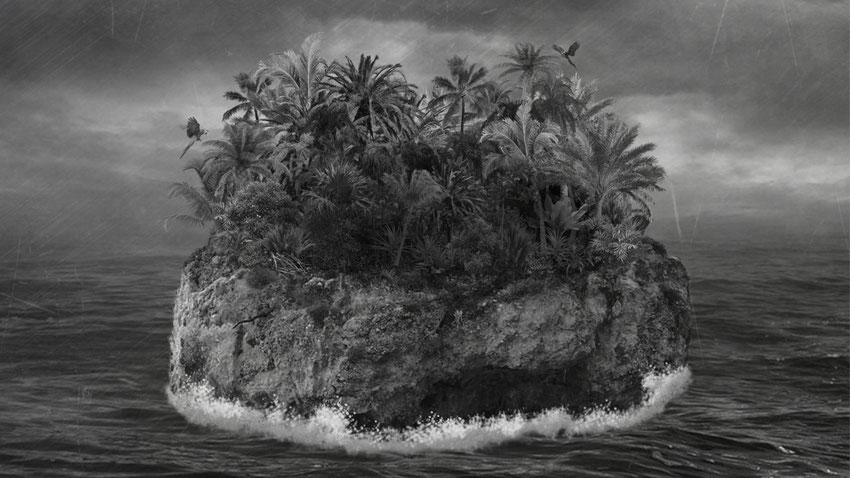 Kein Titel - Alle Pflanzen/ Tiere auf der Insel wurden einzeln aus Fotos eingefügt