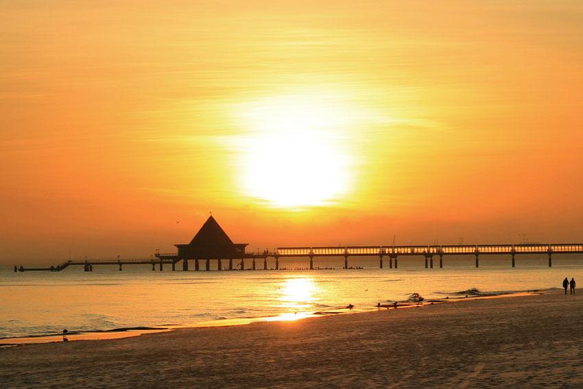 Sonnenbrand - Abends am Strand der Ostsee/ Heringsdorf