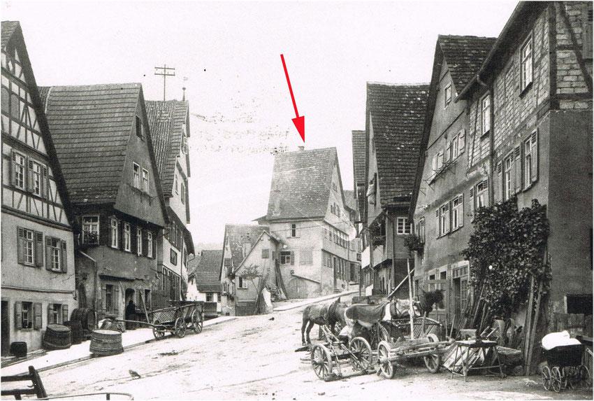 Hauptstraße um 1908