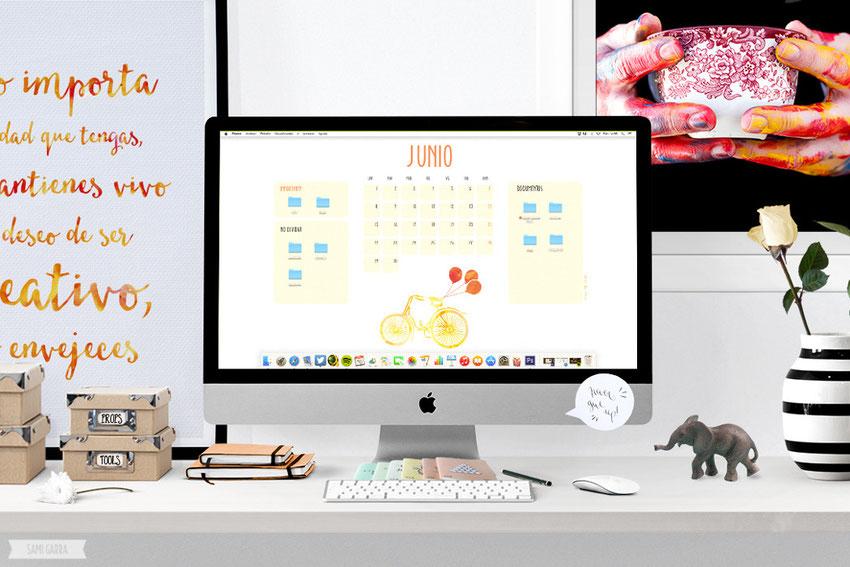 Descargable Calendarios Junio by Sami Garra