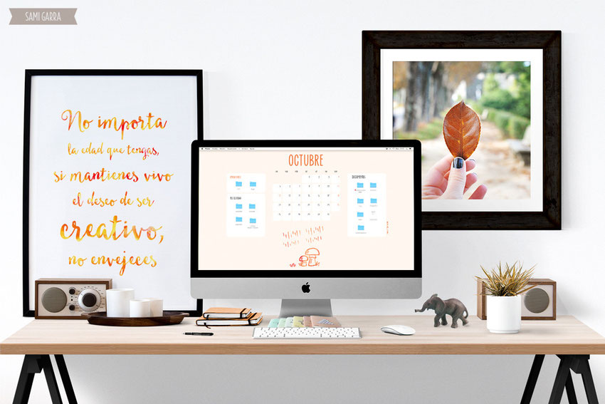 Freebies de calendario: octubre by Sami Garra