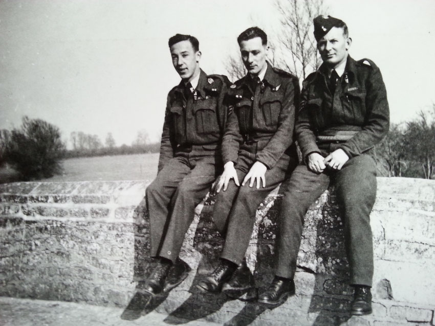 From the left: Andrew Brown (Pilot), KIA, Harry Barnard (Air Gunner), POW , David Badcock (Bomb Aimer), KIA