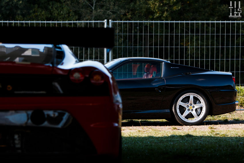Ferrari F430 GT3 et Ferrari 575 Superamerica - Les Grandes Heures Automobiles 2015, Montlhery