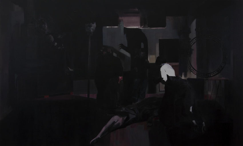 Sumisión (El Gran Estudio). Oil on linen. 180 x 300 cm. 2015