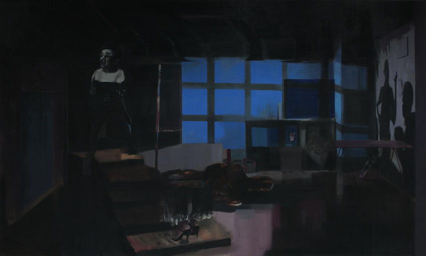 Éxito (El Gran Estudio). Oil on linen. 180 x 300 cm. 2015