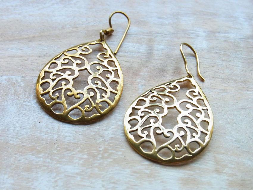 Indische Ohrringe aus Messing