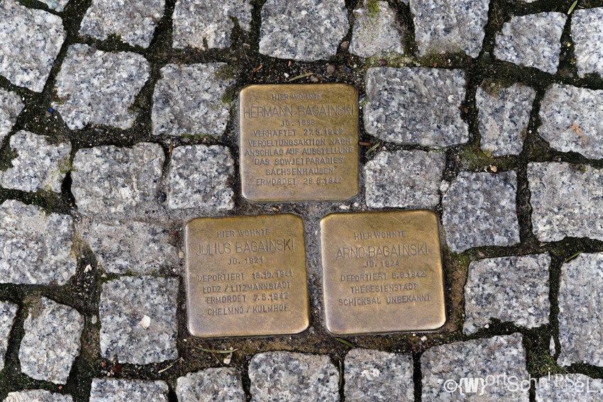 Stolpersteine auf der Greifswalder Straße