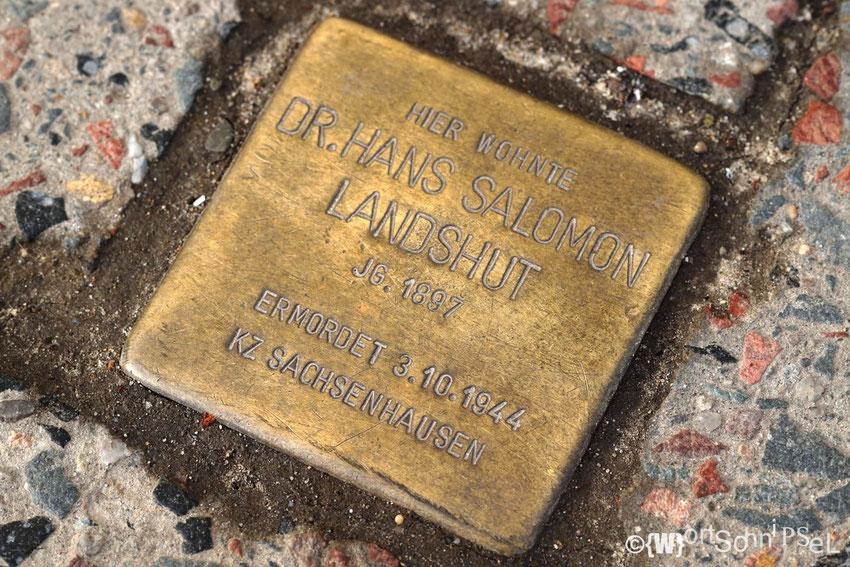 Stolperstein auf der Bötzowstraße