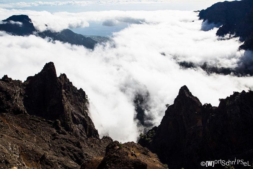 die Kaldera des Roque de los Muchachos