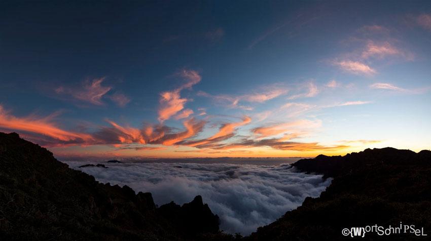 Sonnenuntergang auf dem Roque de los Muchachos