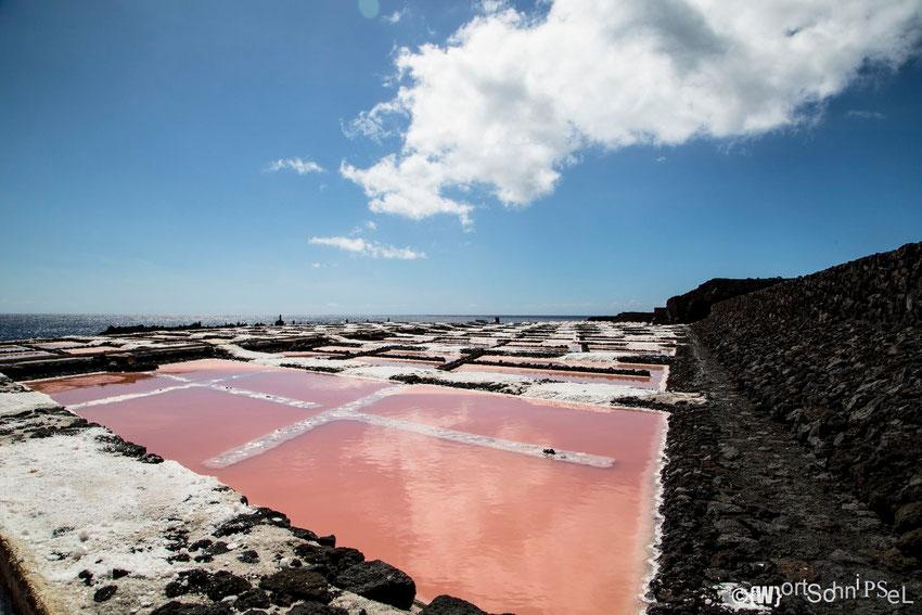 die Salzfelder von La Palma im Süden der Insel