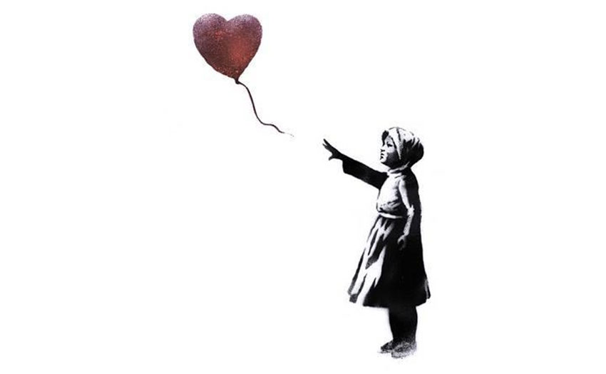 Girl and ballon banksy street art record vente enchère