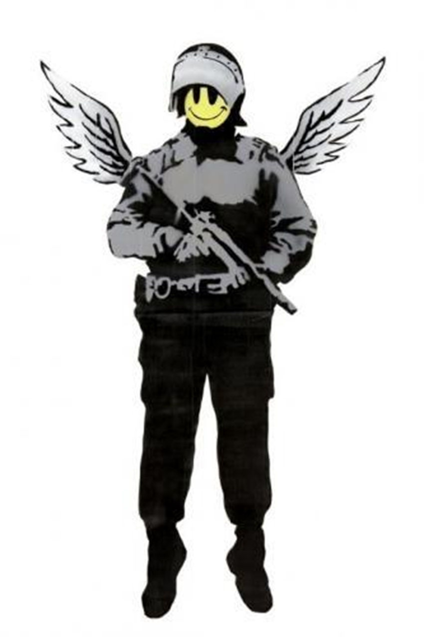 Banksy record vente enchère street art flying copper