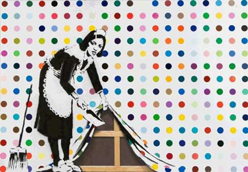 keep it spotless banksy street art record vente enchere monde