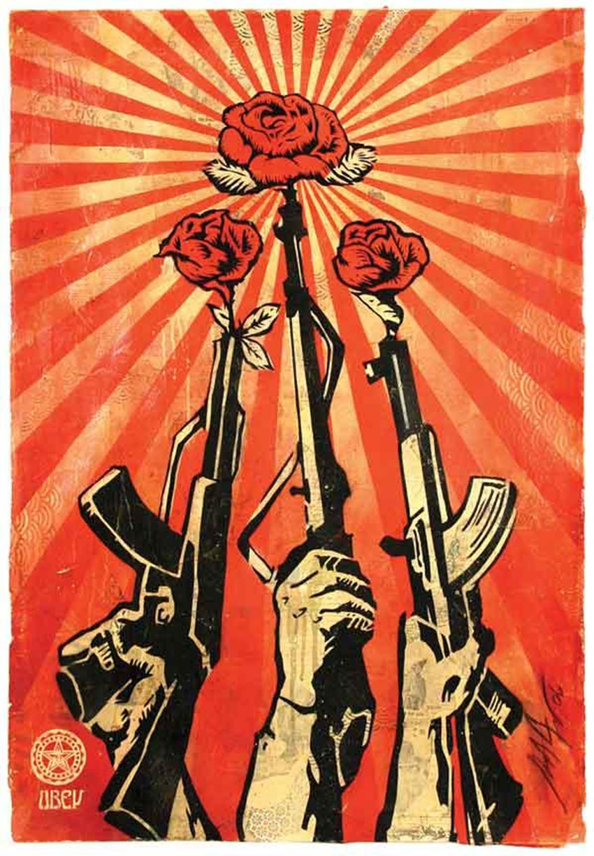 record vente street art Guns and Roses - Shepard Fairey
