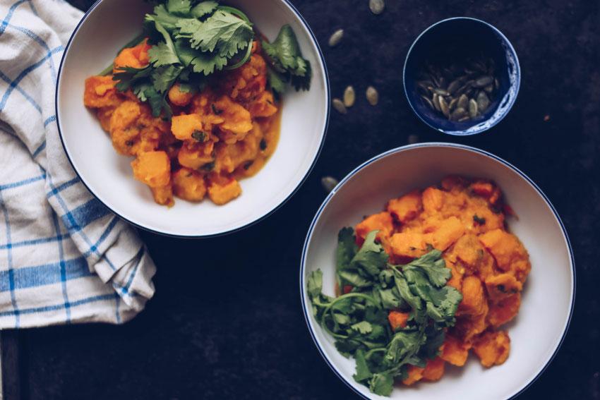 Sattvisches Kürbis Curry