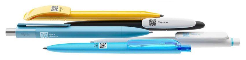 Cloud Pens, il QR code stampato su numerosi modelli!