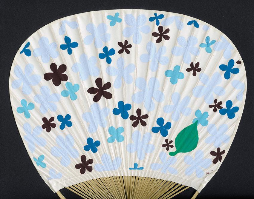 「夏花」団扇