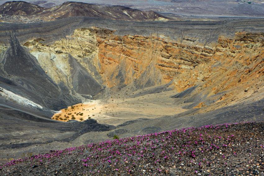 Ubehebės krateris Mirties slėnyje / Foto: Kristina Stalnionytė