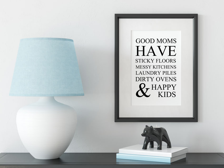 Wandbild Kunstdruck Good Moms Wohnen & Leben