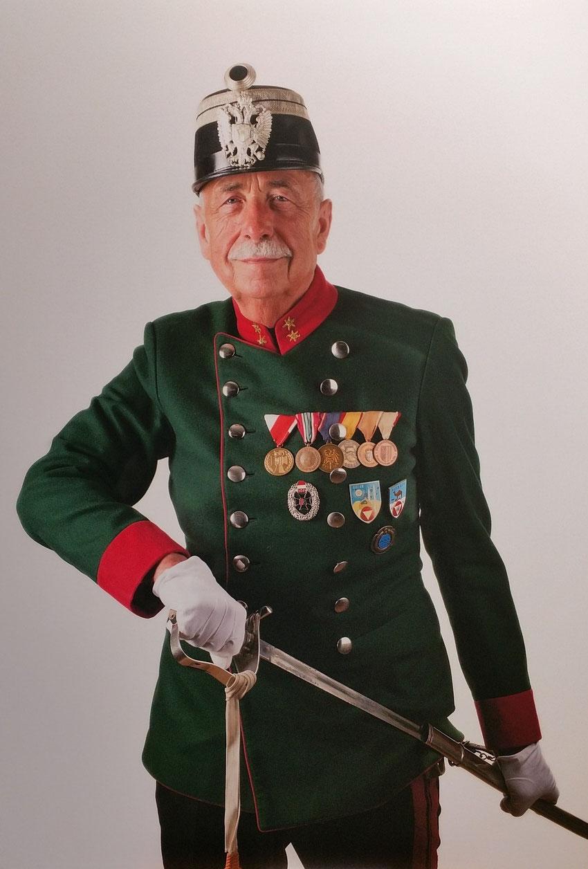 Kommandant des Bürgerkorps Riedau Hauptmann Ernst Holzbauer