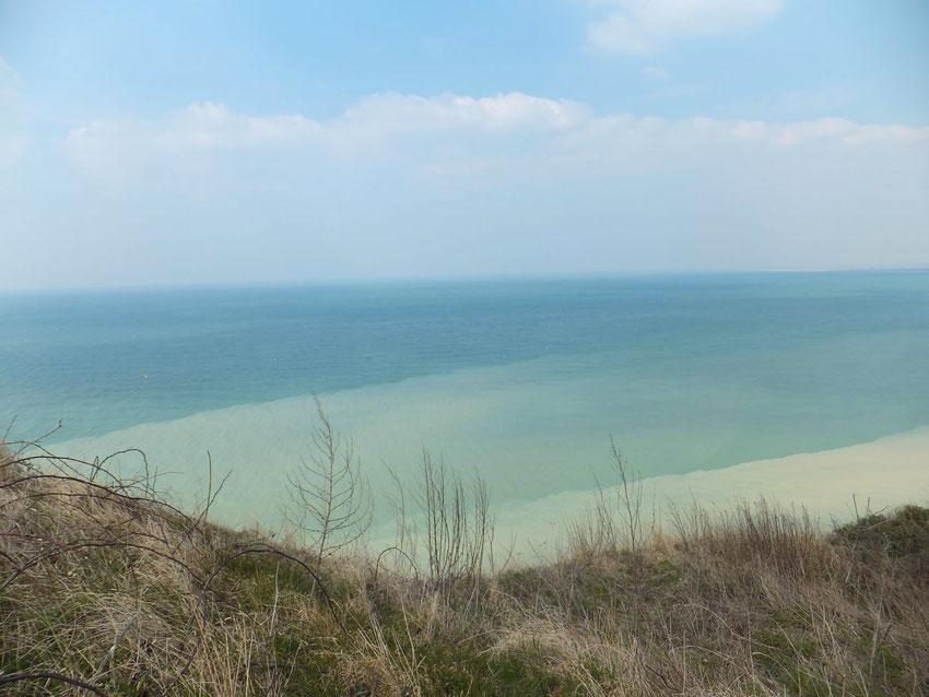 Sur la falaise à Dieppe