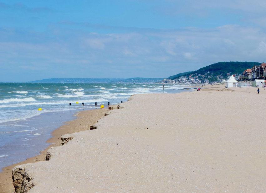 La plage après une tempête