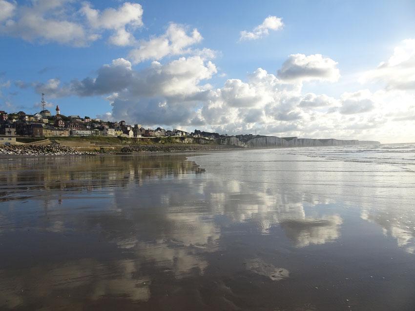 Les plages à marée basse. ici, Ault