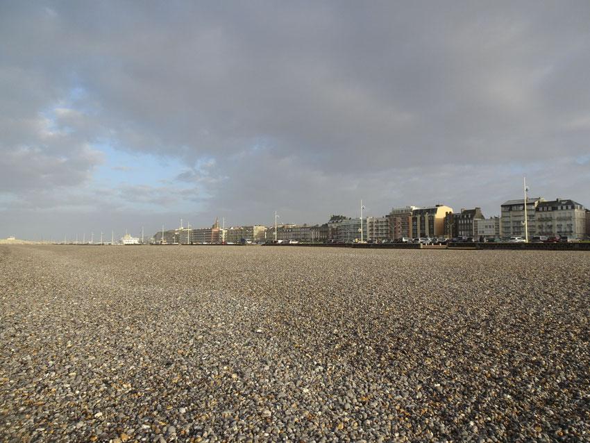 La plage sous l'averse