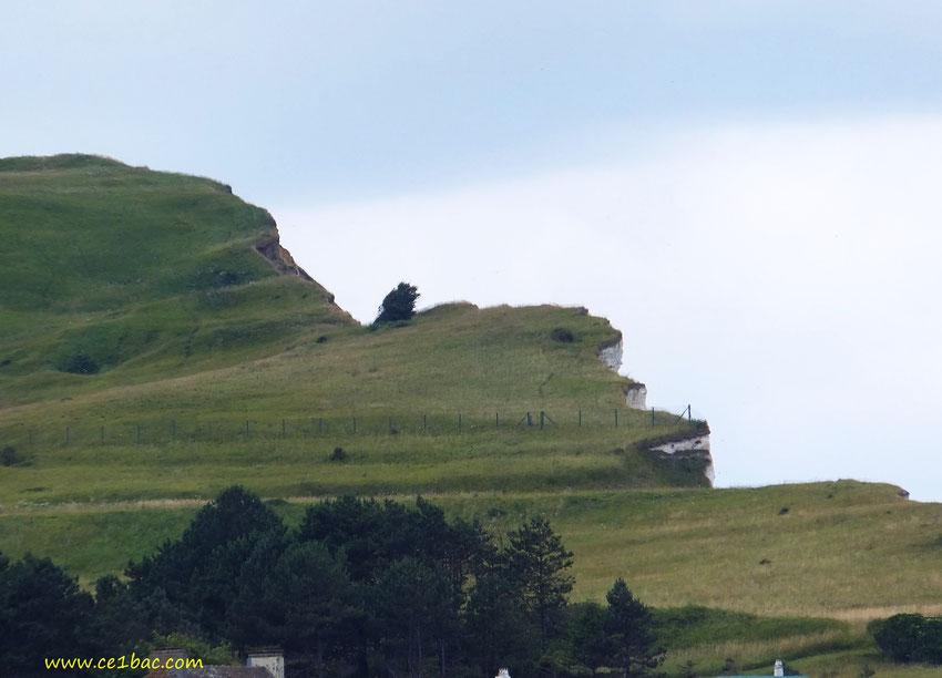 La falaise, à Criel