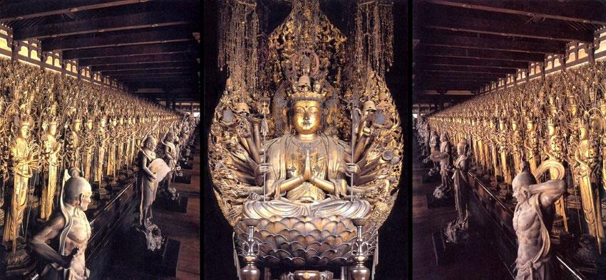 "Les ""1001 bouddhas"" (source : Japan Info : http://jpninfo.com/40294)"