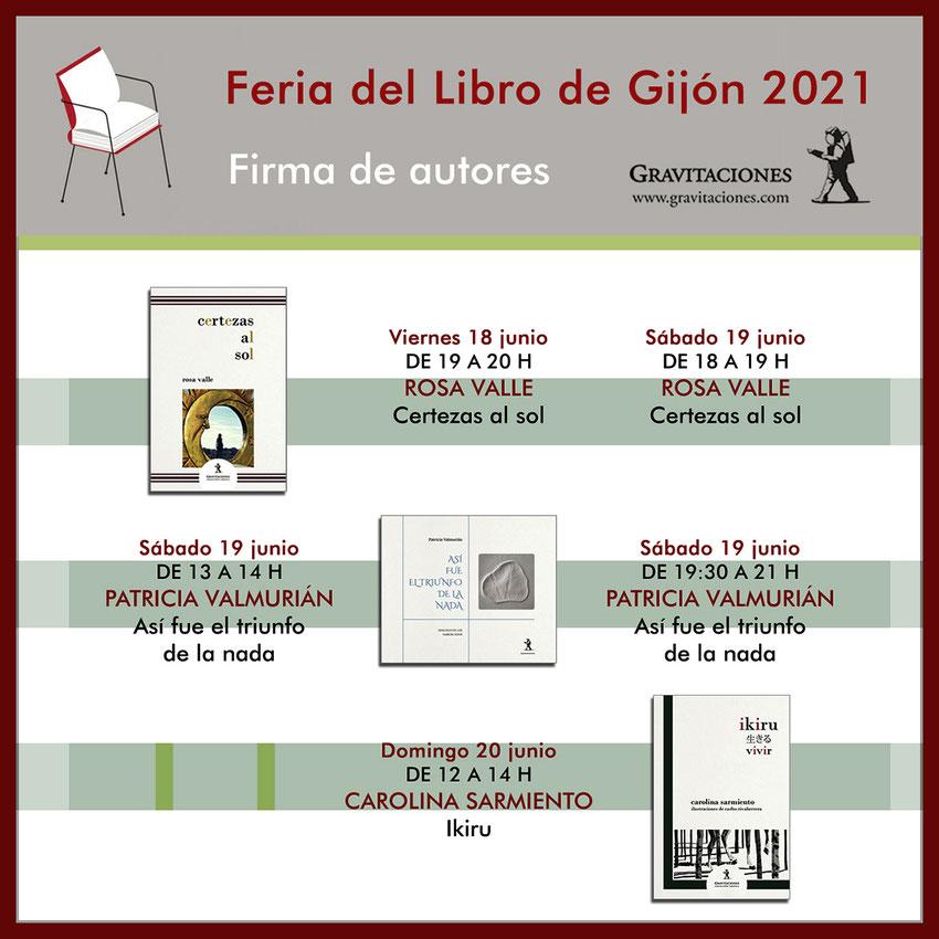 Editorial Gravitaciones - Feria del Libro de Gijón 2021