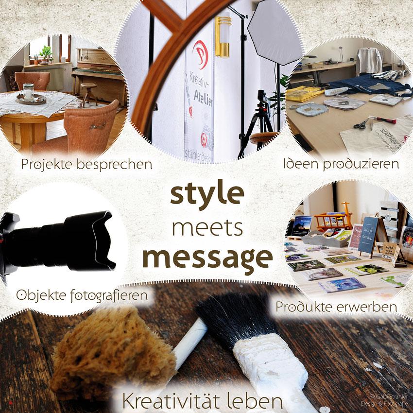 Kreativatelier, kreative Ideen, Fotografie Gabi Strähler