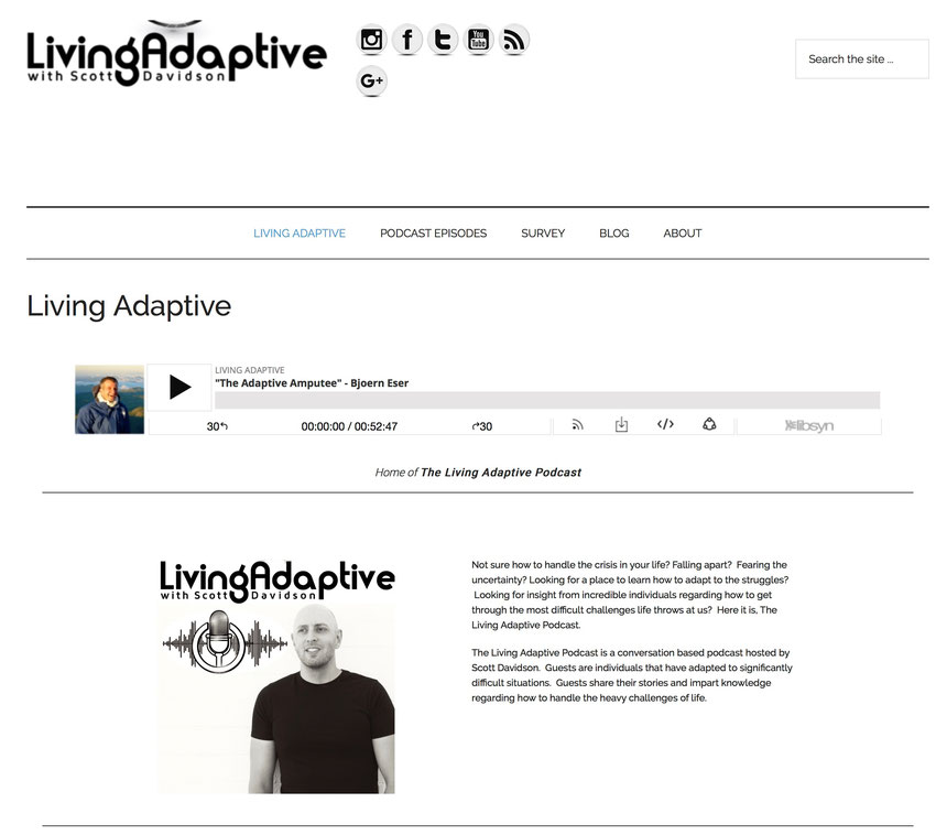 Chatting with Scott Davidson in his Living Adaptive Podcast (picture courtesy of Scott Davidson)