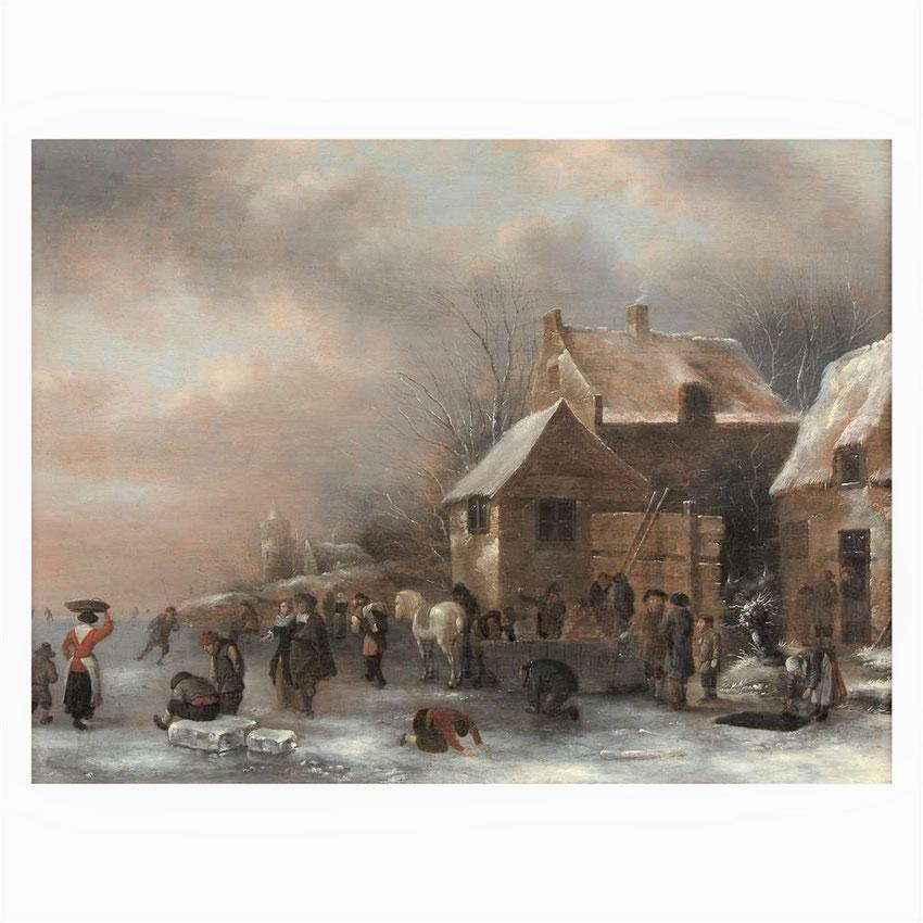 te_koop_aangeboden_een_17e_-eeuws_winter_gezicht_van_de_hollandse_kunstschilder_nicolaes_molenaer_1626/1629-1676_gouden_eeuw