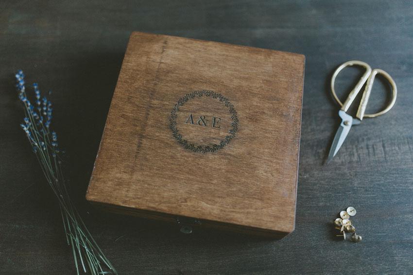 Holzboxen für Hochzeitsfotografen