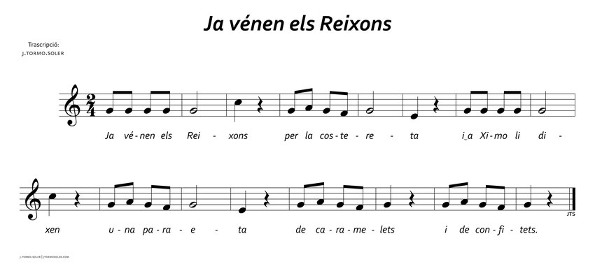 Cançons tradicionals - J. Tormo Soler - Compositor, director i guitarrista - Ja vénen els Reigs