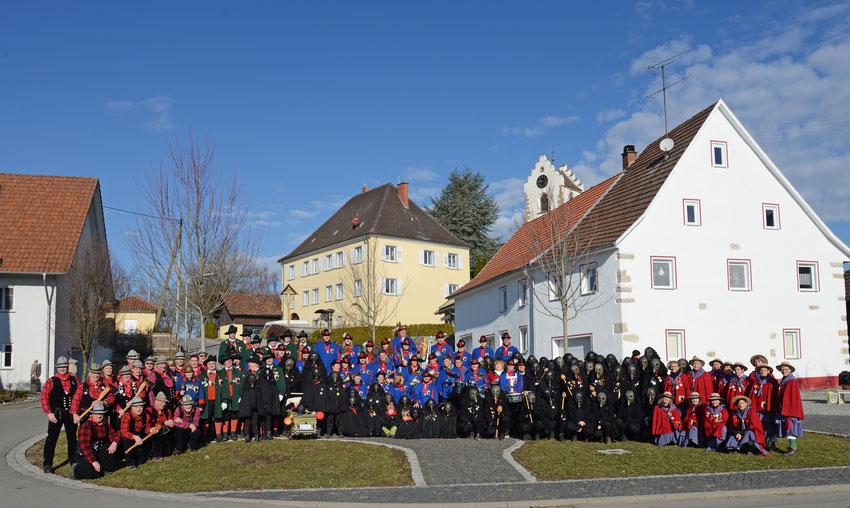 Gruppenbild der Quakenzunft Ehingen 2017