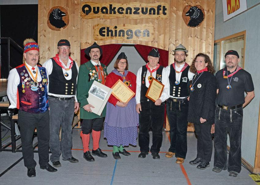 v.l. Landvogt Raily Mink, Fritz Schoch, Präsident Armin Oexle, Doris + Wolfgang Danieli, Florian Maier, Melanie Danieli, Thorsten Kaiser