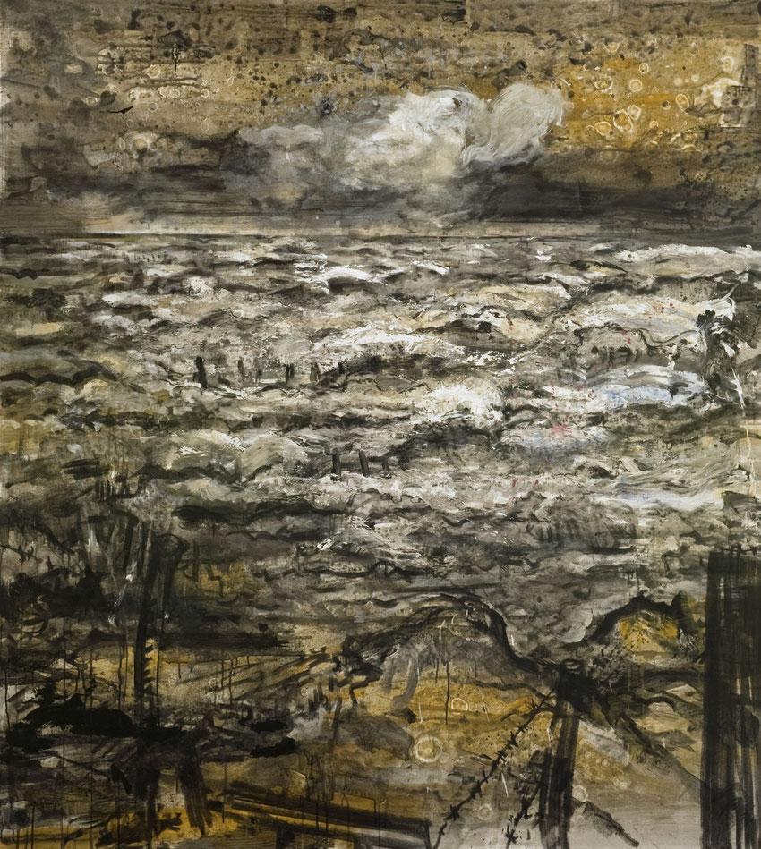Unruhiges Meer · 2012 · 1.900 x 1.900 mm · Öl auf Leinwand