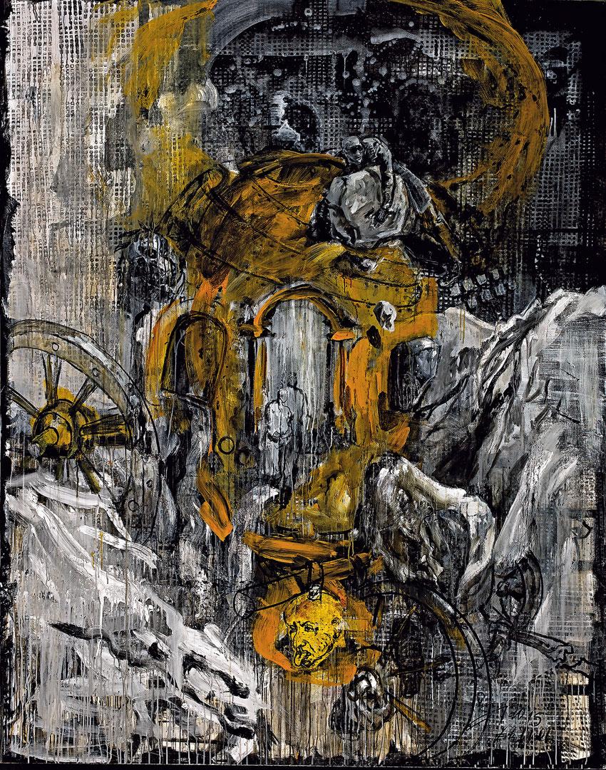 Goldenes Zeitalter · 2015 · 2.400 x 2.000 mm · Öl auf Leinwand