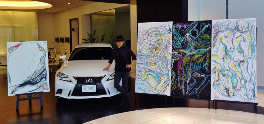 TOYOTA LEXUS Live Performance art with IS350