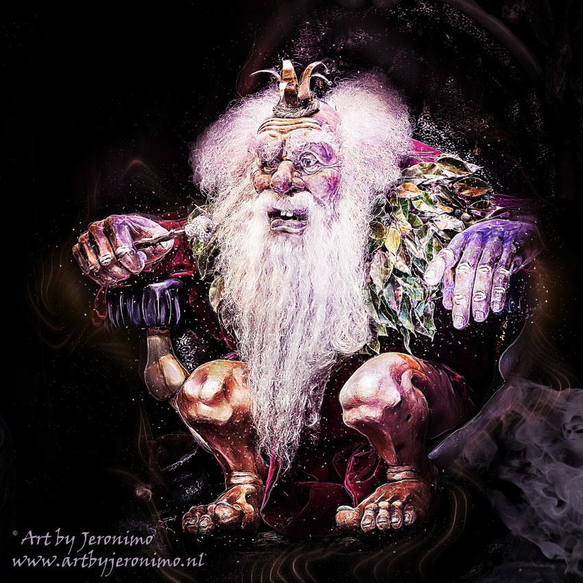 Het door mij verkochte kunstwerk van de trollenkoning (bekend van de Efteling)