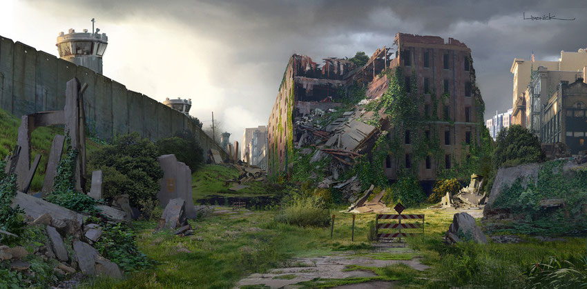 "blog marie fananas écrivain ""Les Oubliés"" sources inspiration image concept art ""The Last Of Us"" ruines"