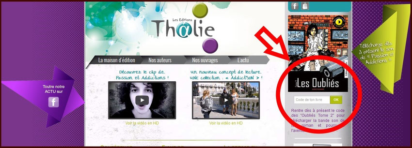 page acceuil site internet éditions thalie - blog marie fananas écrivain