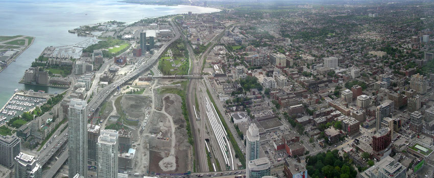 South-West View from CN Tower Toronto