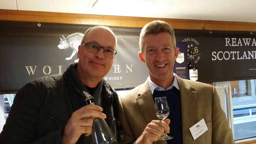 Harry Taylor and Bodo Leplow - Verkostung Wolfburn 18 Monate - Whiskyschiff Zürich 2015