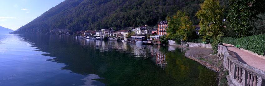 Uferpromenade mit Hotel dellago